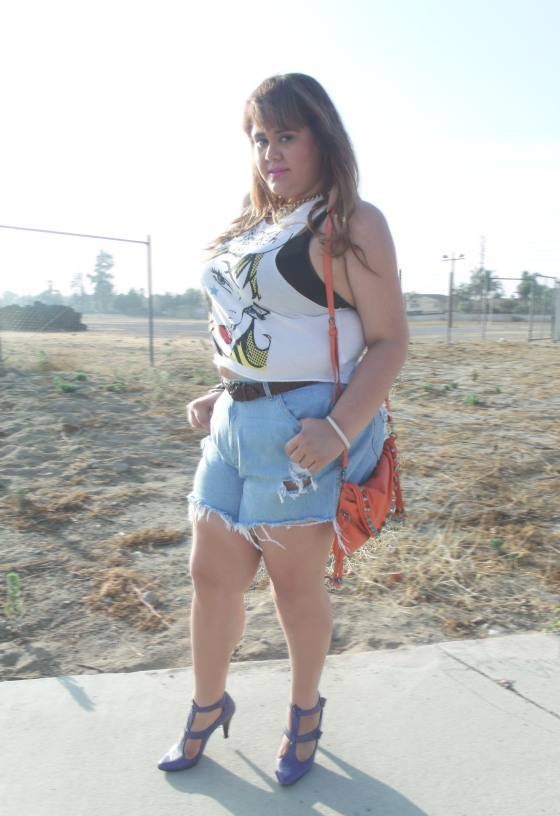 plus-size-cut-off-shorts